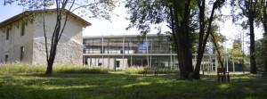 Le Pôle culturel de la Haye vu du parc